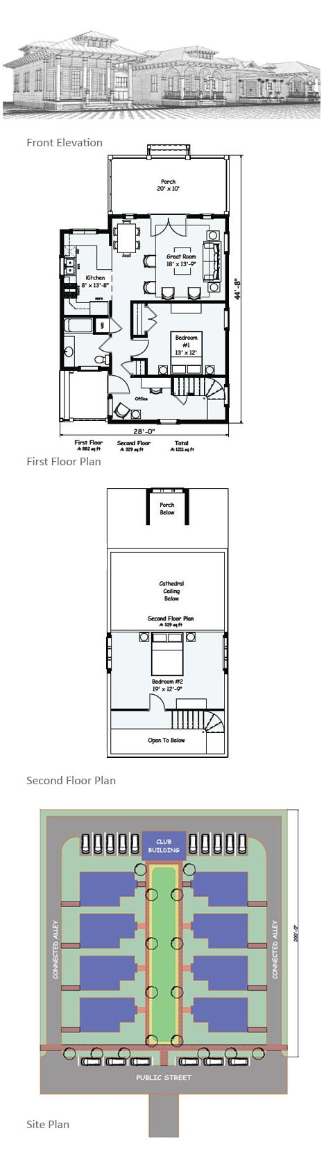 Holly Cottage Elevations and Floor Plans Cluster housing