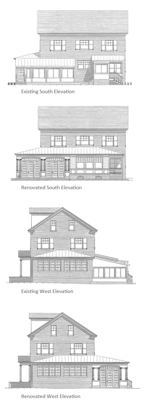 Shannahan Remodel Elevations and Floor Plans